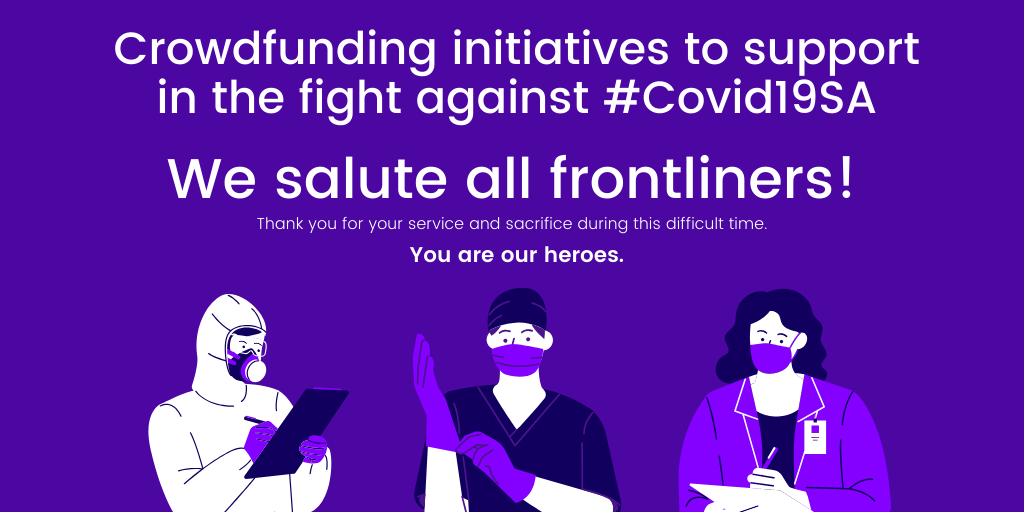 Crowdfunding initiatives to support in the fight against #Covid19SA