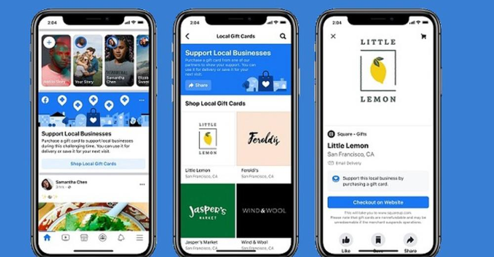 Facebook Adds Gift Card Discovery Tool, Service Change Listings to Help Businesses Impacted by COVID-19