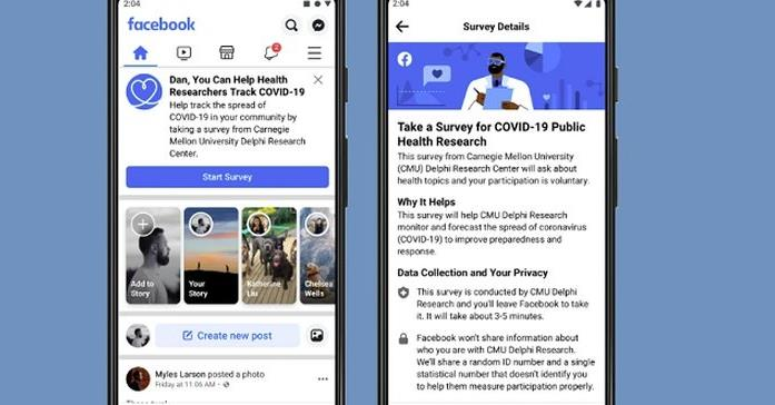 Facebook Provides Location-Tracking Maps, New User Surveys for COVID-19 Research