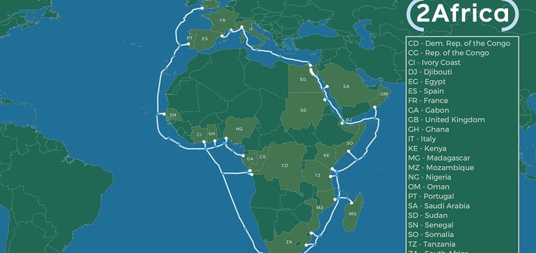 Facebook Invests $1 Billion into New Sea Cable to Improve Internet Access in Africa
