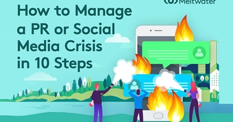 How to Manage a PR or Social Media Crisis in 10 Steps [Infographic]