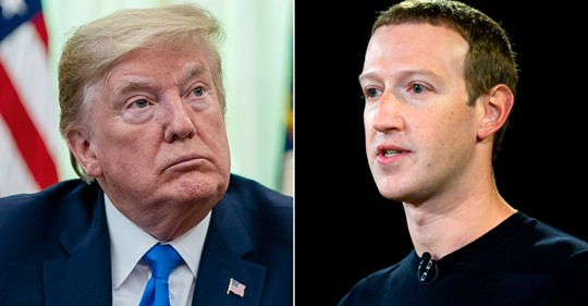 Facebook takes down Trump ads 'for violating our policy against organized hate'