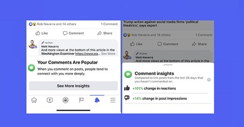 Facebook Looks to Prompt More Comments with New Comment Engagement Stats